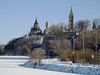 A view of Parliament Hill from the Richmond Landing in Ottawa, Ontario (Ullysses) Tags: richmondlanding ottawa ontario canada autumn automne snow neige ottawariver rivièredesoutaouais parliamenthill