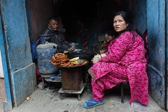 Street food (posterboy2007) Tags: kathmandu nepal street food woman cook sony