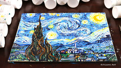 Starry Night painting by Kitslam (Kitslams Art) Tags: starrynight vangoghpainting vangogh vincent expressionism expressionist painting paint art artist arts starry night classicart classics kitslamsart kitslam youtube youtuber