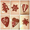 A bit of gingerbread (Anna Karolina Ozola) Tags: gingerbread cookies christmas holidays latvia candle candlelit yummy treats glaze white red brown plates festive fire tasty warm christmaseve fuzzy decermber winter