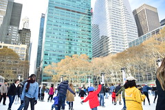 Bryant Park Ice Skaters (thoth1618) Tags: ny nyc newyork newyorkcity manhattan ice iceskating iceskaters bryant park bryantpark therink rink buildings trees people skater skaters 2017 holidays photooftheday