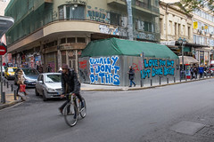 Love you, but not done hoein' (morten f) Tags: love you but done hoein hoe street art athens athen greece hellas photography bicycle people city life