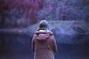 film (La fille renne) Tags: film analog 35mm lafillerenne canonae1program 50mmf18 owax owaxinfraredcolor400 infrared infraredcolor infraredfilm ir landscape nature lake pau woman