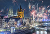 Cologne New Year 2017-2018 II (Husky-CGN) Tags: cologne köln kölner dom cathedral fireworks silvester new years eve 2018 feuerwerk rhein
