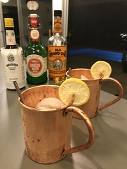 Kentucky Buck (Erick Castro via Imbibe).2 oz Old Grand-Dad bourbon whiskey3/4 oz lemon juice1/2 simple syrup2 dashes AngosturaMuddled strawberry 1.5 oz ginger beer.#cocktail #cocktailporn #craftcocktails #imbibegram #imbibe #instadrinks #drinkstagram#buck (*FrogPrincesse*) Tags: copper bourbon buck erickcastro imbibemagazine gingerbeer angostura lemon strawberry whiskey cocktail