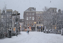 Don't forget your warm winter jacket if you're headed in Amsterdam during winter (B℮n) Tags: bike snow covered bikes bicycle holland netherlands canals winter cold wester church street anne dutch people scooter gezellig cafés snowy snowfall atmosphere colorful walk walking cozy light corner water canal weather cool sunset file celcius mokum pakhuis grachtengordel unesco world heritage sled sleding slee nowandthen bycicle 1°c sun shadows sneeuw brug slippery glad flakes handheld wind code oudezijdsvoorburgwal sintjansbrug walletjes redlight amsterdam oudekerk liesdelsluis korteniezel brugnr207 febo lekkerste cheese deli seagull 50faves topf50 100faves topf100