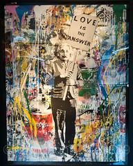 """Einstein"" Painting by Mr. Brainwash, Galerie Élysées Bartoux, 104 Central Park South, New York City (jag9889) Tags: 2017 20171201 art artwork banner campbell centralparksouth einstein frame gallery graffiti indoor love manhattan midtown ny nyc newyork newyorkcity painting store streetart tagging text usa unitedstates unitedstatesofamerica can jag9889 soup"