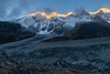 Confluence of Kabru Dome Glacier (b) & Onglathang Glacier (f) (Stephen T Slater) Tags: 2017 glacier india kabru peak sikkim moraine mountain snow sunrise in