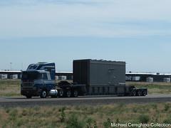 West Coast Hay International 9800 (Michael Cereghino (Avsfan118)) Tags: west coast hay ih international 9800 coe cab over cabover engine semi trucking lowboy oversize load
