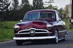 "1949 Ford coupe ""Custom"" (Custom_Cab) Tags: 1949 ford club coupe red car custom kustom"