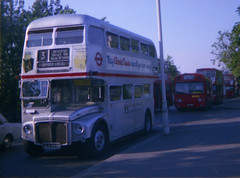 RM1920 (SRM16) seen at Crystal Palace in the summer of 1977. Copyright Ian Cuthbertson (I C railway photo's) Tags: routemaster londontransport bus route3 crystalpalace rm1920 srm16