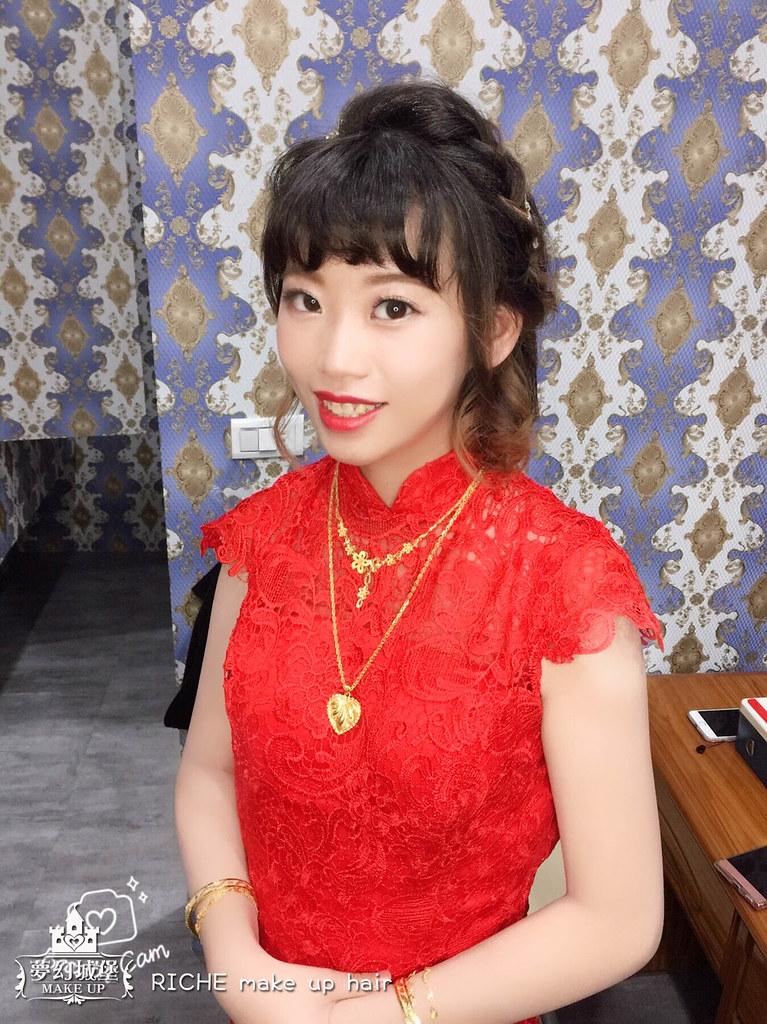 【新秘RICHE】bride希晴 結婚造型 / 台中浩源海鮮餐廳