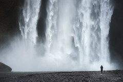 Skogafoss-Almighty (simply erik) Tags: waterfall cascata iceland islanda skogafoss girl power potenza ragazza water acqua powerful potente enorme huge mighty