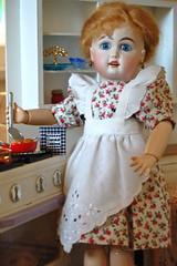 Latkes in the Kitchen (Emily1957) Tags: latkes chanukah bleuette miniaturekitchen miniature reproduction dolls doll toys toy light naturallight availablelight nikond40 nikon kitlens