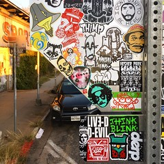 Sticker graffiti (mcknightpercy) Tags: 2018 2017 city slaps slap adhesive texas urban combo artwork collection color stickers flickr tiago tags graff graffiti gats voxx feln derp sleep rxskulls thimp hesherpark devil blink love stickerporn public streets artist art sticker
