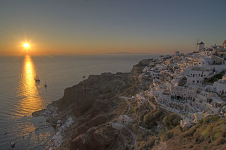 Sunset at Oia is an absolute must for a romantic traveler