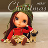 We wish you a very Merry Christmas and a happy New Year with the ones you love!!! (Passion for Blythe) Tags: christmas blythe timy cute takara bohemian pug dog friend