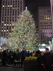 2017 Christmas Tree Rockefeller Center 5037 (Brechtbug) Tags: 2017 christmas tree rockefeller center with lights 12162017 nyc 30 rock new york city standing up above ice rink snow shoveling workers skating holiday decoration ornaments night lites light oversize load ornament midtown manhattan
