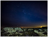 Orion rocks OK! (malcbawn) Tags: nightsky jackiesbeach southtyneside rockpool winter orion plough stars shootingstar seaweed sea night bigdiper rock astro