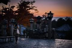 way back (Ka-merameha) Tags: people street sunset temple worship woman human wish view orange ngc