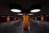Bahnhof des Grauens - Messe Nord / ICC (Andie Wandsch) Tags: berlin icc messe nord ubahn bvg subway station westen westend unterführung tunnel
