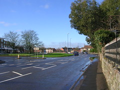 Station Road on New Year's Day (southglosguytwo) Tags: 2018 buildings cars hometown january newyearsday signs sky southgloucestershire stationroad trees yate wall