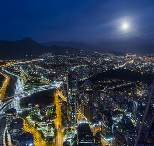 super luna y santiago panoramica