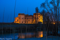 Castello di Mesola (paolotrapella) Tags: castle castello mesola italy riflesso waterscape water blu orablu