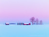 Outbuildings and a prairie winter 2007 (Gord McKenna) Tags: gordmckenna gord mckenna hygge danish warmth prairie sunrise devon canmet outbuildings trees pink blue edmonton alberta ab ca