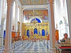 Croatie, l'intérieur de l'église Orthodoxe la Sainte-Trinité de Dubrovnik (Roger-11-Narbonne) Tags: dubrovnik ville croatie église