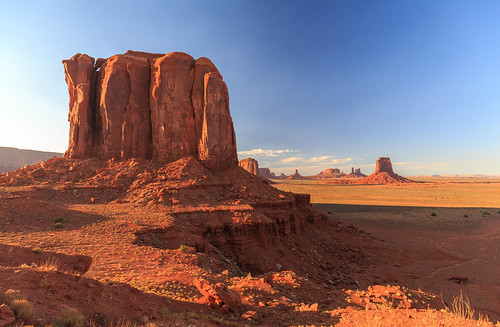 A different perspective of Monument Valley