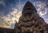 Angkor Wat 's center tower (Xversion1) Tags: suryavarmanii landscape sunset trip siemreap reflection monument icon sunrise lake angkorwat orange world religion hdr nature unesco jayavarmanvii wonder travel cloud architecture sun sky sunlight cambodia heritage temple mountain