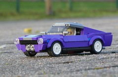 Ford Mustang 1967 Fastback (1/4) (captain_joe) Tags: toy spielzeug 365toyproject lego minifigure minifig moc car auto ford mustang 1967 fastback