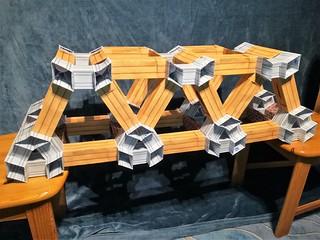 Modular origami truss bridge