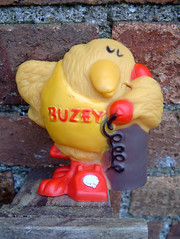 BUZBY (The Moog Image Dump) Tags: buzby cute kawaii bird promo combex creations british telecom 1976 squeaker vinyl toy figure mascot