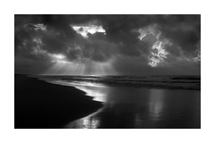 Light and Clouds (Joe Franklin Photography) Tags: almostanything blackandwhite bw outerbanks obx northcarolina nc coast atlantic storm lightrays joefranklin wwwjoefranklinphotographycom