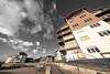 Exmouth Marina Seafront Apartments (pm69photography.uk) Tags: exmouth devon marina luminar luminar2018 distorted distortion southwest seafront sony sonya7rii a7rii voigtlander voigtlanderheliarf56 voigtlanderheliar10mmf56 wideangle ultrawide