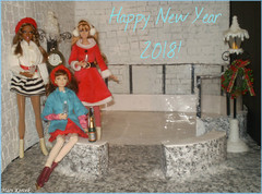 New Year on Ice (Mary (Mária)) Tags: christmas newyear2017 iceskating iceskates ice snow winter newyearseve handmade candelabrum clock skaters doll toys poppyparker thelook sweettea city fashionistas barbie mattel integritytoys dollphotography fashiondollphotography scene diorama miniatures dollliv swater coat