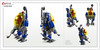 Raptor series: Classic Space (Brixnspace) Tags: raptor walker frame powersuit suit lego moc toy biped space bot cs classic spacesuit explore exploration
