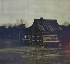 shelter (jssteak) Tags: canon t1i lensbaby shed sunset rural homestead littleton colorado