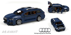 Audi A6 Avant (C7 - 2011) (lego911) Tags: audi a6 c7 avant quattro wagon estate 2011 2010s german germany vag auto car moc model miniland lego lego911 ldd render cad povray awd mlb