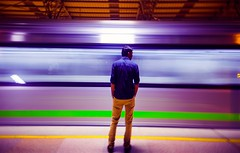 life in metro (anilsphotography) Tags: nikon nammametro longexposure street anilsphotography colourful incredibleindia india anilgowda karnataka bengaluru metro travel motion blur action