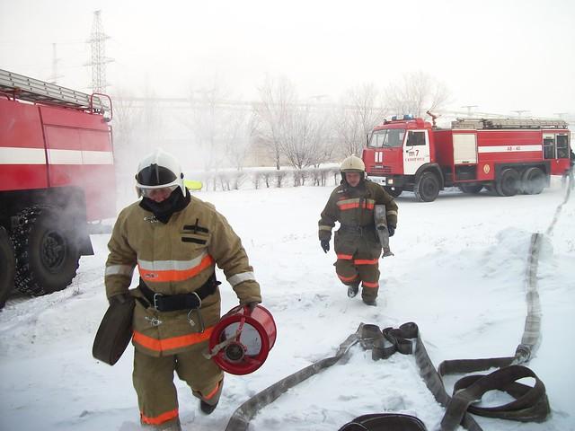 ВСызрани врайоне поселка Заводской горел склад строительных материалов