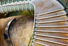 Brown stairs (Maerten Prins) Tags: england brittain londen london brown stair stairs stairwell staircase spiral curve curves man sitting downshot lines architecture geometry geometric