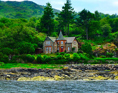 Scotland West Highlands Argyll a nice house at Port Tarbert 21 June 2017 by Anne MacKay (Anne MacKay images of interest & wonder) Tags: scotland west highlands argyll sea coast house port tarbert landscape 21 june 2017 picture by anne mackay