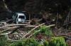Smashed Rolled Car From Flood (pokoroto) Tags: smashed rolled car from flood bicycle trip across kyushu 9月 九月 長月 くがつ kugatsu nagatsuki longmonth 2017 平成29年 fall autumn september ōitaprefecture 大分県 九州 日本 japan