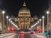 Basilique Saint Pierre - Via della Conciliazione - Rome (valecomte20) Tags: nikon d5500 basilique saint pierre viadellaconciliazion rome roma italy night nuit avenue longueexposition