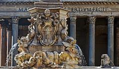 Mythical Rome (Ciceruacchio) Tags: pantheon fountain fontaine fontana piazzadellarotonda marcusagrippa hadrian adriano hadrien rome roma rom mythical mythique mitica mythe mito italy italia italie italien nikon