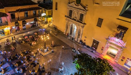 Santo Domingo square at night