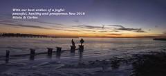Seasonal greetings 2018 (catoledo) Tags: 2015 islandbeachstatepark newjersey beach nature sea sunset